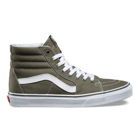 VANS SK8-Hi (canvas) Grape Leaf chaussures montantes vert ...