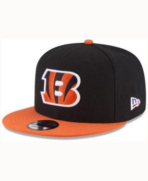 New Era Cincinnati Bengals Crafted in America 9FIFTY Snapback Cap - Black/Orange Adjustable