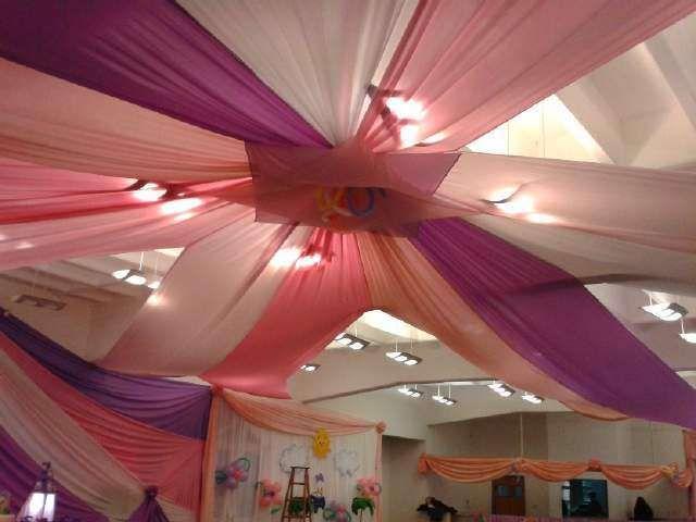 Arreglos de sal n para xv a os con telas 3 decoracion for Decoracion de salon de eventos para 15 anos
