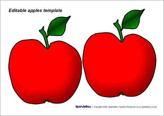 Editable apples template - red (SB4790) - SparkleBox Projects to