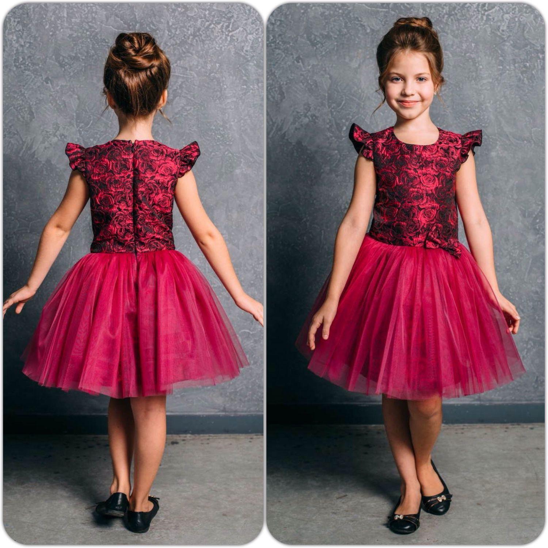 Купить Пышное платье для девочки «Сказочная принцесса» (99) - фуксия ... 6dc50080c9e3e