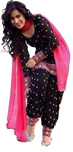 37dde4b2df New Indian Latest Designer Women's Black Cotton Unstitched Salwar Suit  Dress Material. Sizes XL,2XL,3XL,4XL,5XL,12,14,16,18,20,22,24,26,28,32