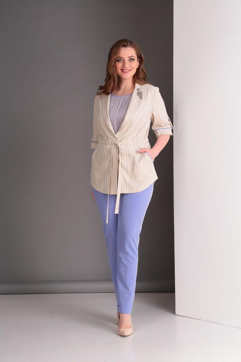 5f82829bec2d Легкий летний женский костюм для офиса. Стильный комплект на каждый день из  натуральных тканей.