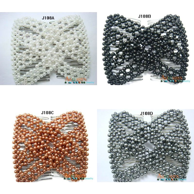Ez Magic Double Stretchy Beaded Hair Combs Clip J108 Hair Beads Beaded Hair Combs Thick Hair Styles