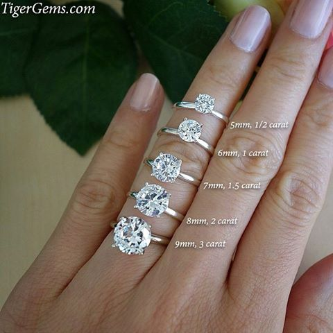 Which Size Stone Would You Wear These 4 Prong Solitaires Can Be Made In Sterling Silver Rose Engagement Ring Dream Engagement Rings Wedding Rings Engagement