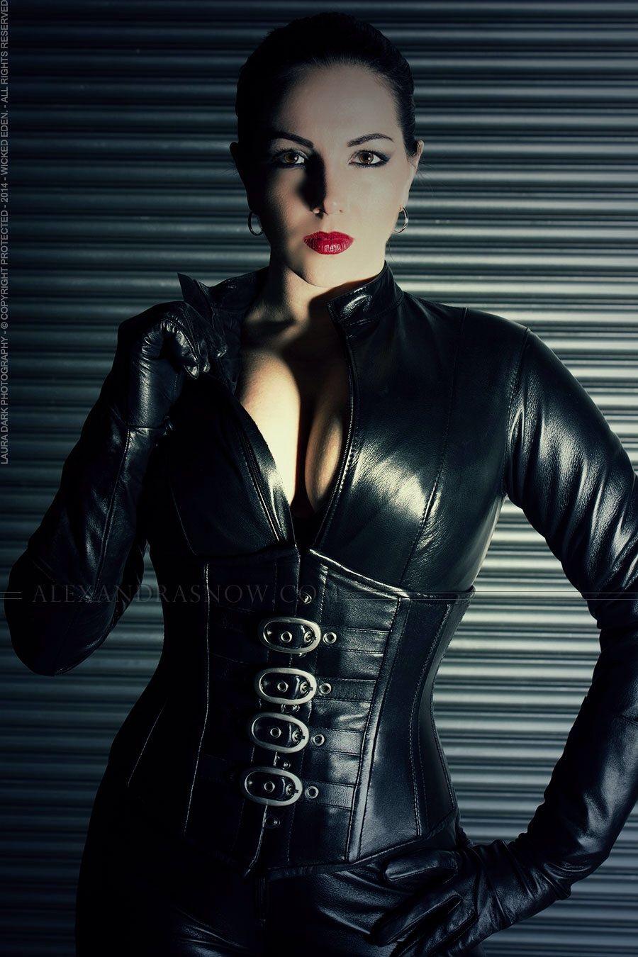 Black leather gloves brisbane - Corset