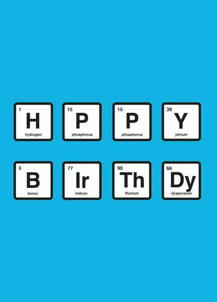 Chemist birthday aneeta l pinterest chemist birthdays and breaking badperiodic table happy birthday card in walter whites and jesse pinkmans favorite shade of blue urtaz Image collections