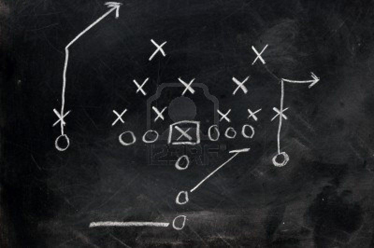 4575932 diagram of football play on black chalkboardg 1200798 4575932 diagram of football play on black chalkboard pooptronica Images