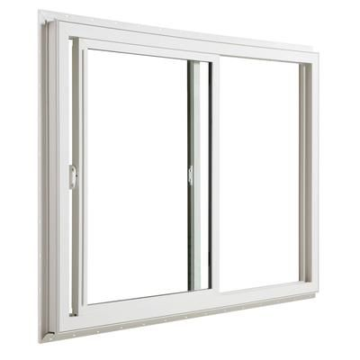Jeld Wen Windows Doors 3500 Series Vinyl Slider Window 60 Inch X 48 Inch Home Depot Canada Vinyl Sliding Windows Sliding Windows Slider Window