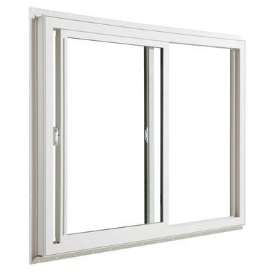 Jeld Wen Windows Doors 3500 Series Vinyl Slider Window 60 Inch X 48 Inch Home Depot Canada Vinyl Sliding Windows Sliding Windows Slider Window