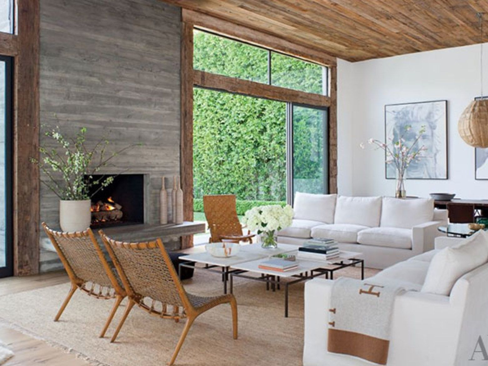 Architectural Digest Contemporary Living Room