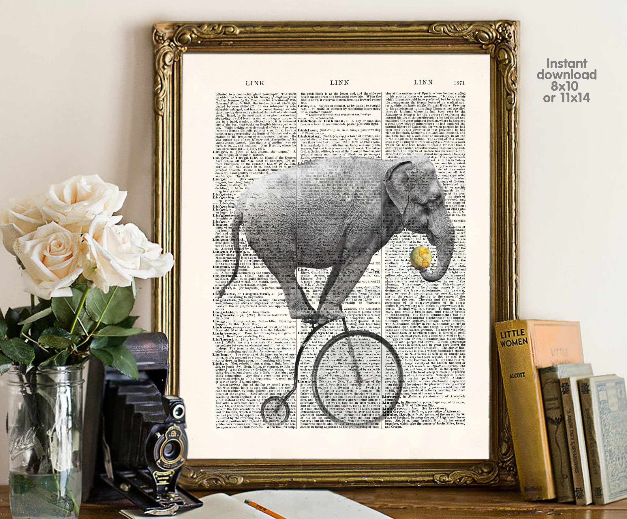 Elephant poster - bar decor - living room decor - Poster Dictionary ...