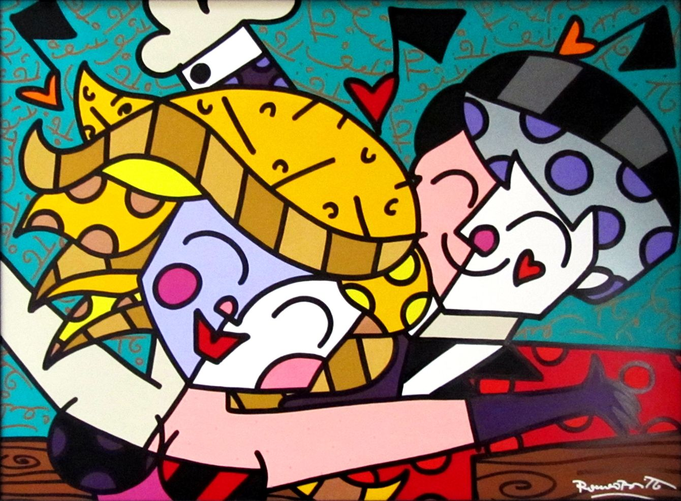 romero-britto-party-time-paintings-acrylic-zoom.jpg (1340×987)