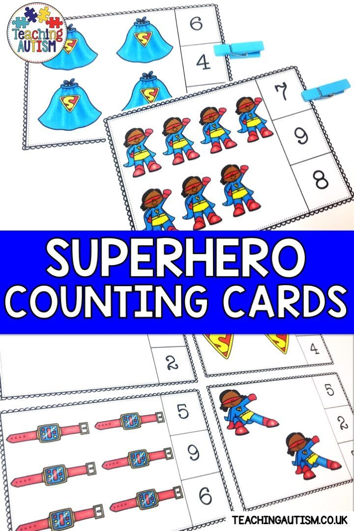 Superhero Math Activities | Counting Task Cards