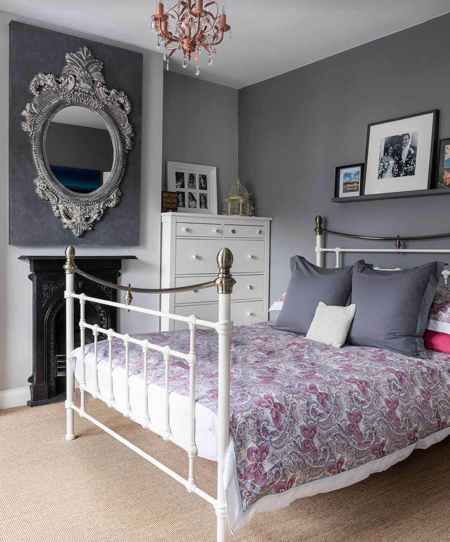 Pin by Kandice Knight on Bedrooms White metal bed, White