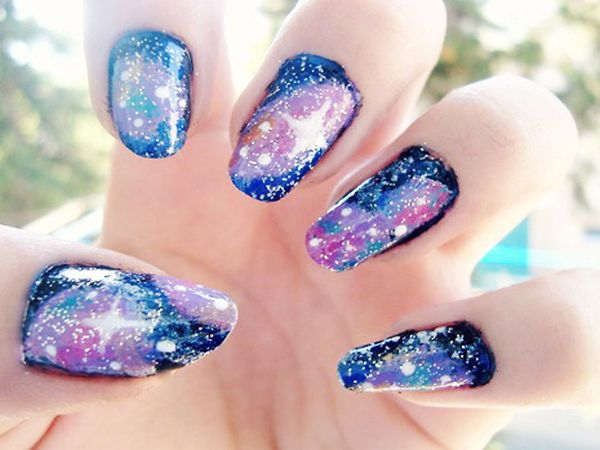 Nail Designs Galaxy Neon Nail Art Neon Nails Nail Art
