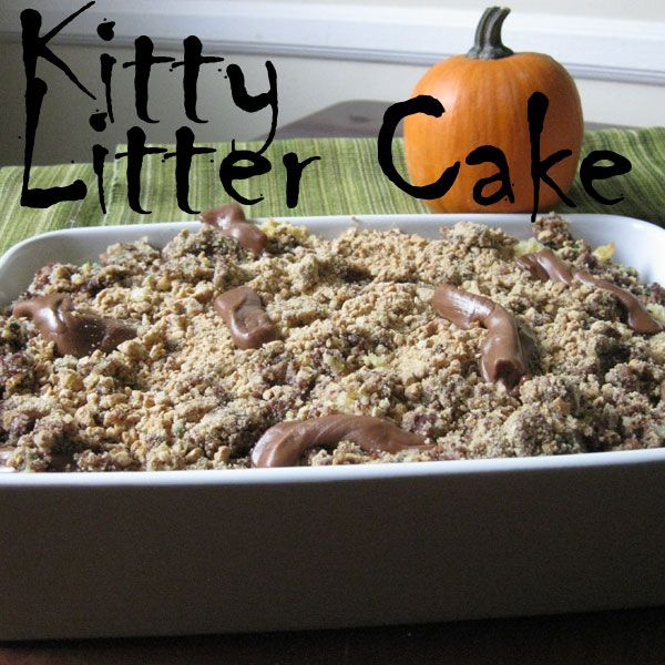 Get Recipes For Kitty Litter Cake Calico Cat Tails Mice Cheese And Crackers Other Scary Themed Party Foods Here Wow Ladys Dream OMG THATS