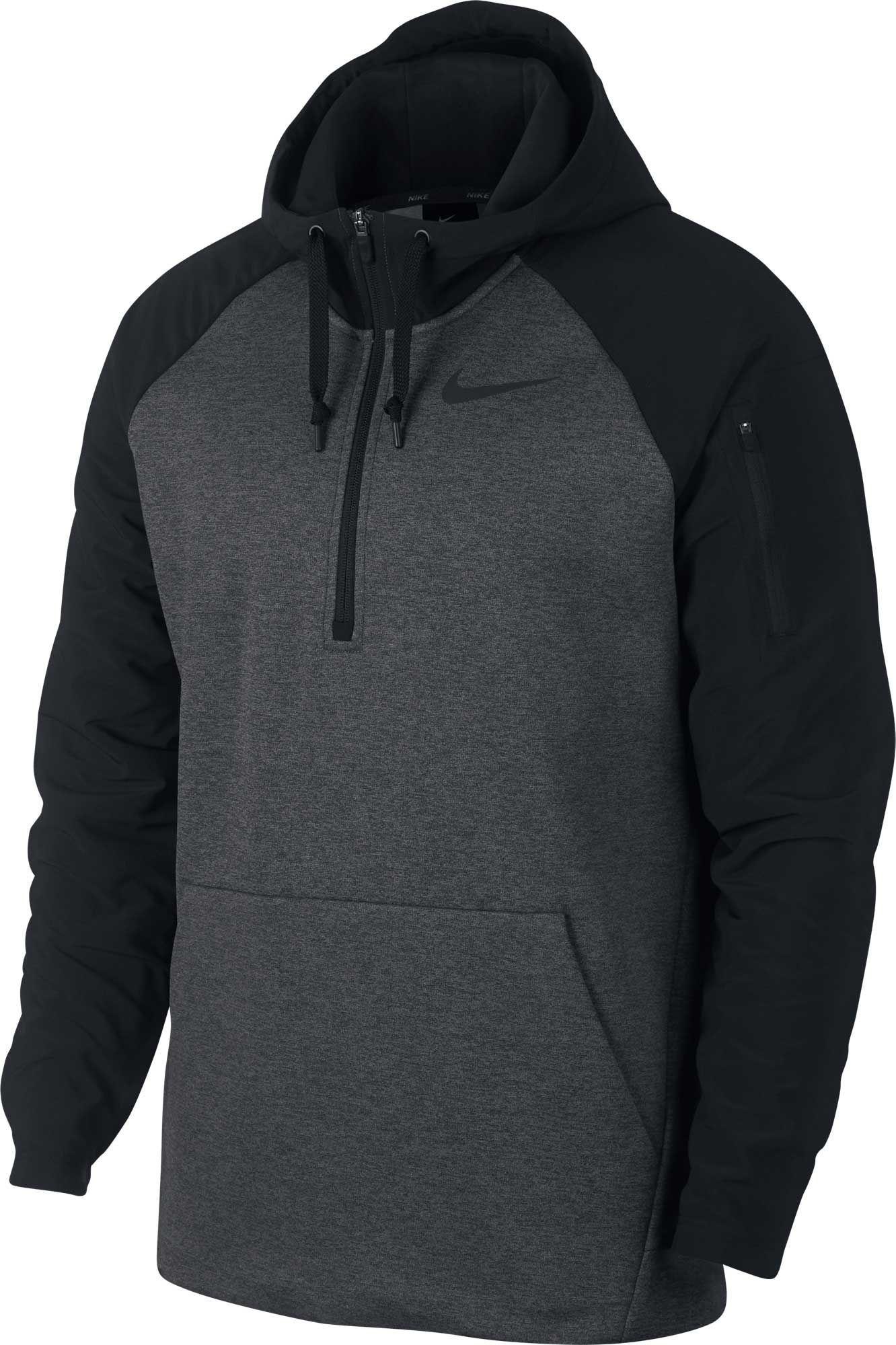 nike 1/4 zip sweatshirt grey