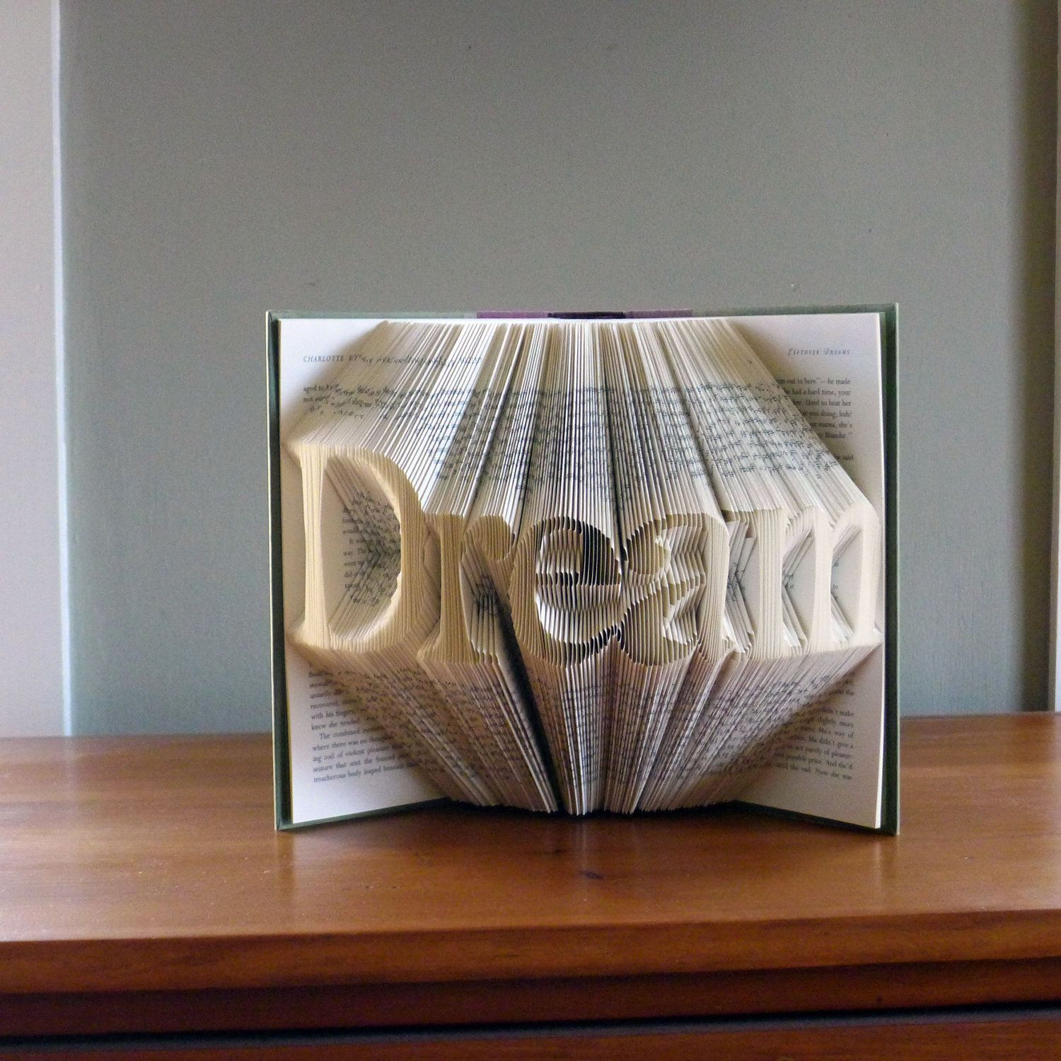 Unique Gifts Present Dream Custom Folded Book Art
