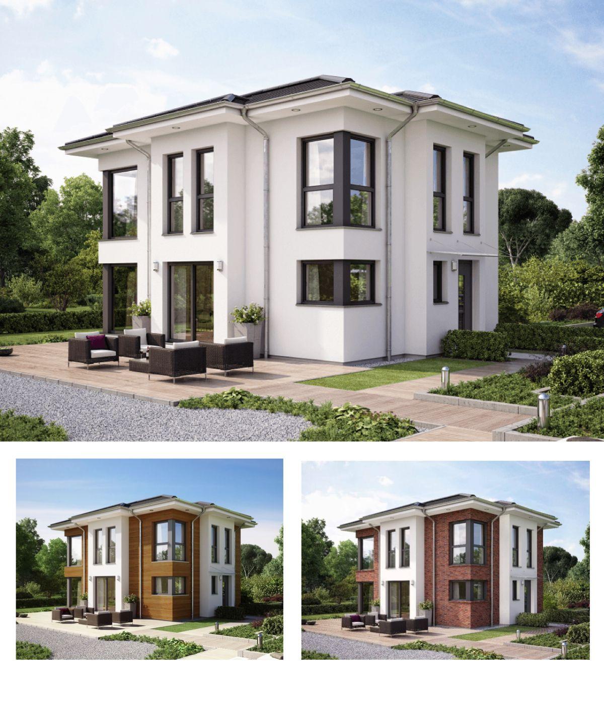 Moderne Stadtvilla Fertighaus Haus Evolution 122 v14