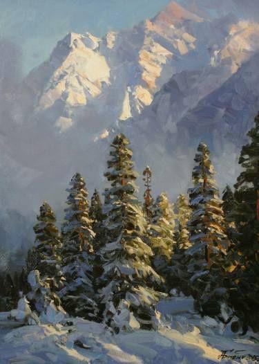 Saatchi Art Artist Alexander Babich Painting Quot Pine Trees