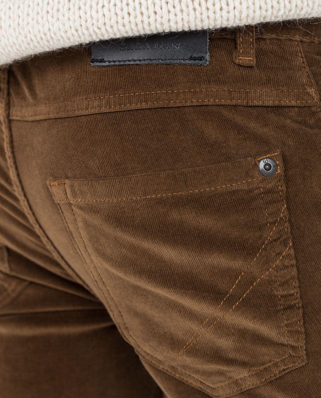 Imagen 5 De Pantalon 5 Bolsillos Pana De Zara Pantalones Pana Ropa