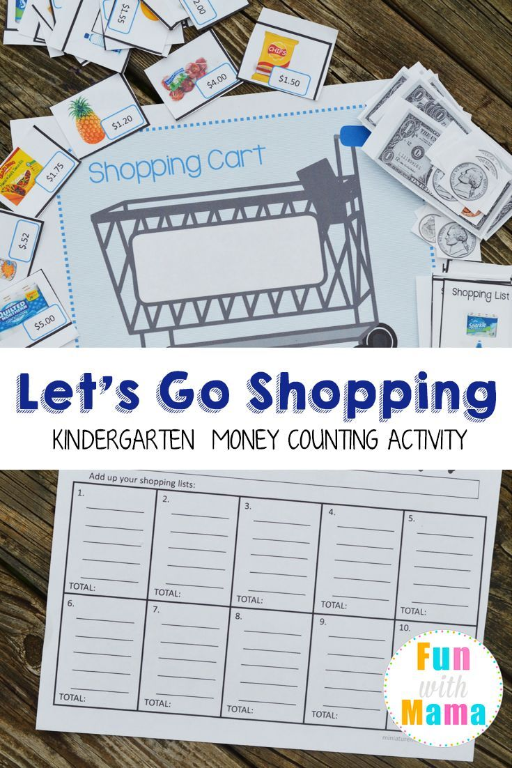 Grocery Shopping Money Counting Activity | Counting activities, Math ...
