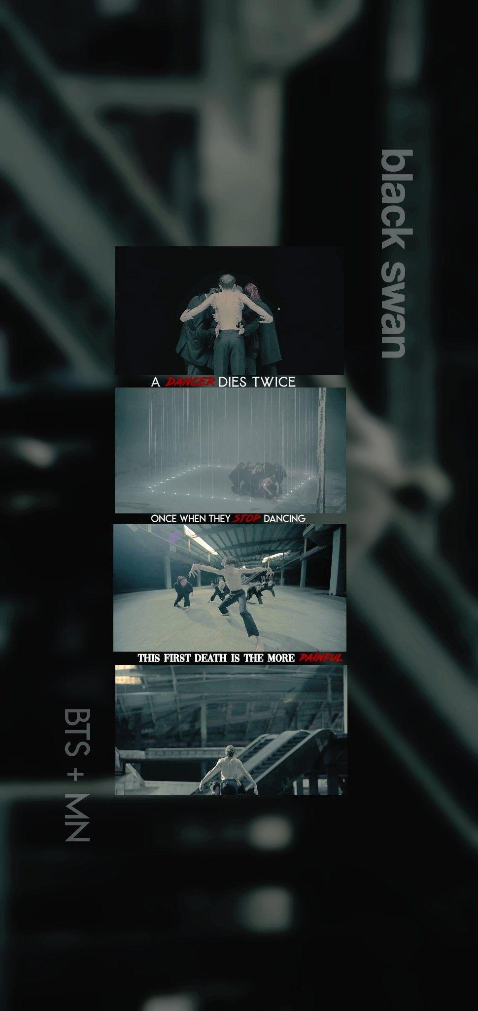 Black Swan In 2020 Bts Wallpaper Bts Backgrounds Swan Wallpaper