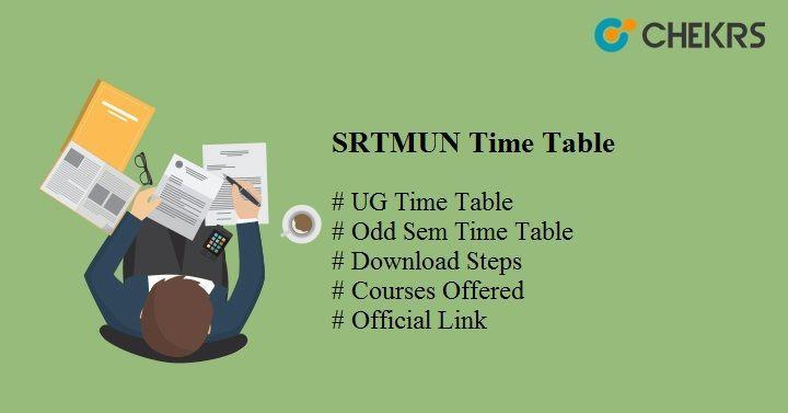 Srtmun Time Table 2018 Download Here Entrance Chekrs Com