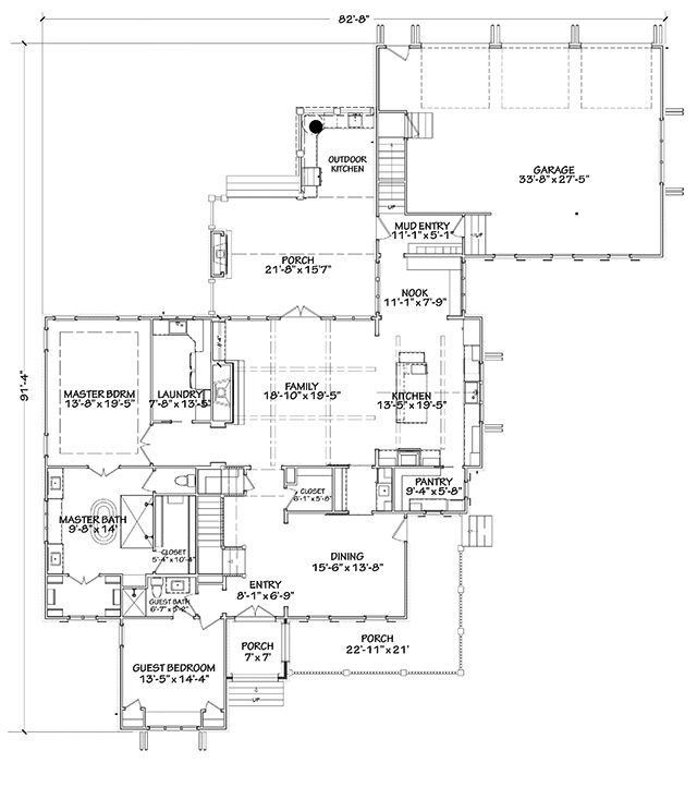 Main Level Floor Plan Southern Living Altadena Park Southern House Plans House Plans Southern Living House Plans