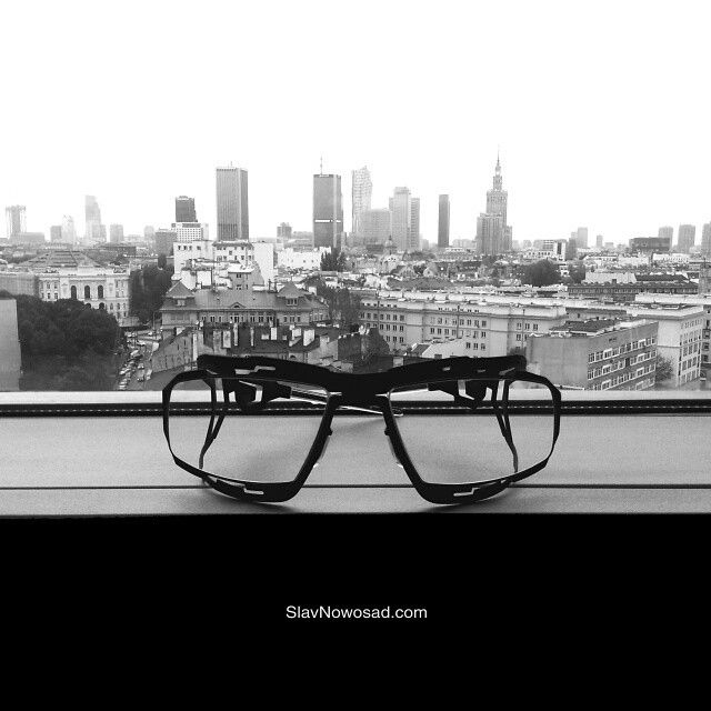 'I have the greatest ‪#view‬ in the world.' 'Yeah? What is it?' '‪#SlavNowosad‬'s glasses.' ‪#blackandwhite #seetheworld‬ ‪#worldview‬ ‪#window‬ ‪#city‬ ‪#capital‬ ‪#Warsaw‬ ‪#skyscrapers‬ ‪#high‬ ‪#tower‬ ‪#black‬ ‪#matte‬ ‪#glasses‬ ‪#eyeglasses‬ ‪#eyewear‬ ‪#lunettes‬ ‪#occhiali‬ ‪#brille‬ ‪#gafas‬ ‪#oculos‬ ‪#oчки‬ #アイウェア‬ #안경‬