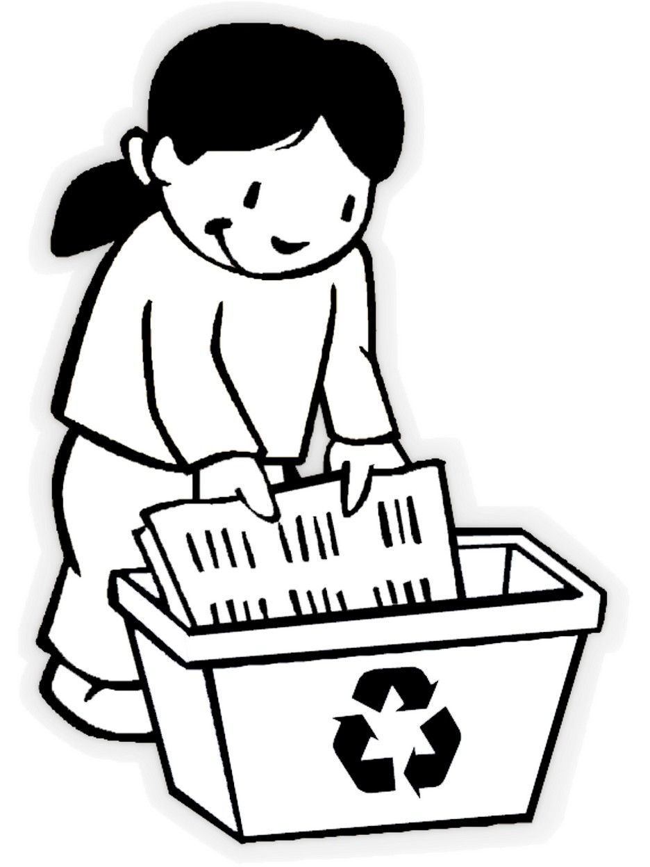 Recycling Coloring Pages to Encourage Love for the Environment