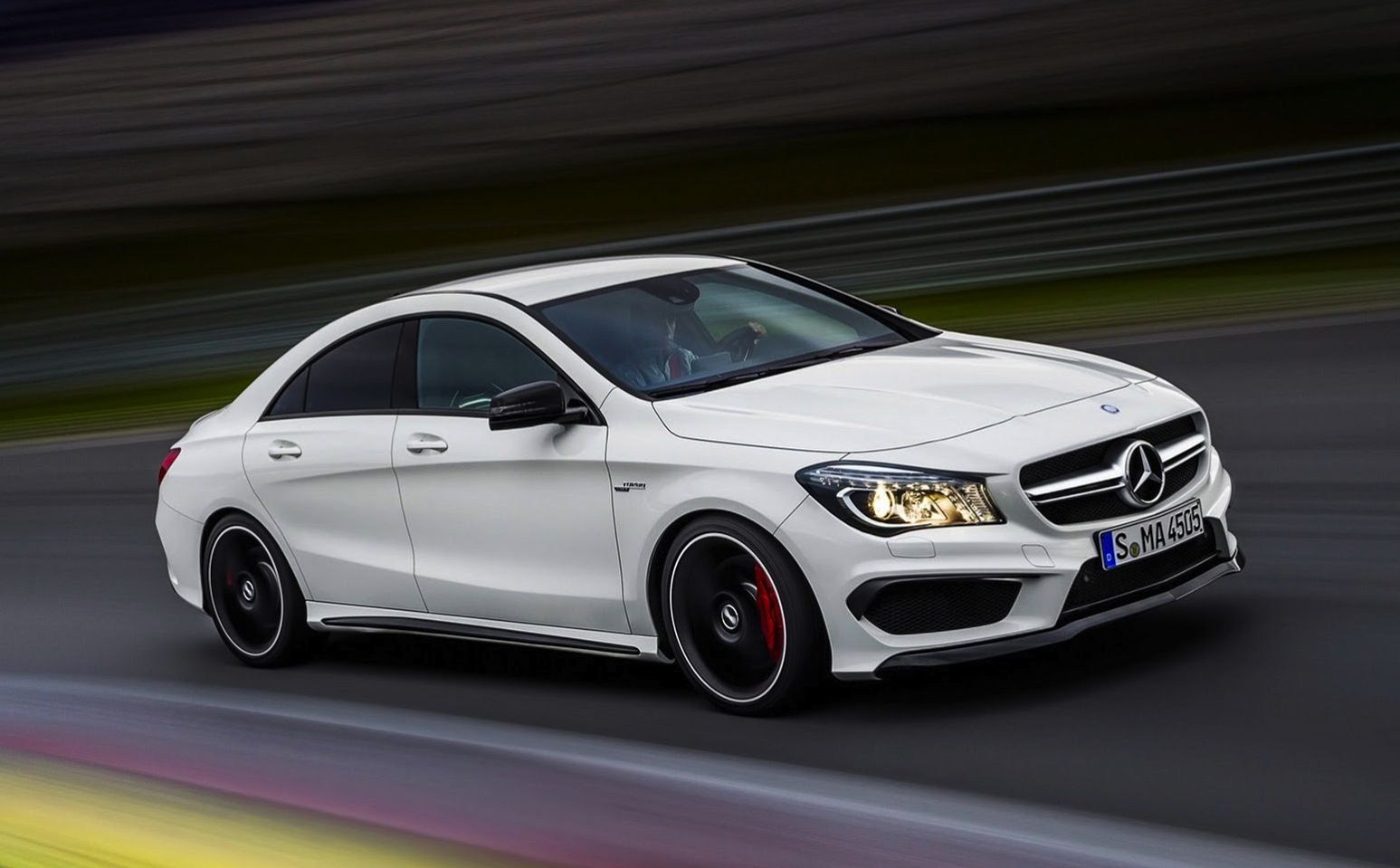 2013 mercedes benz cla 45 amg liter inline 4 turbo with 355 horsepower 0 to 60 mph in seconds top speed of 155 mph