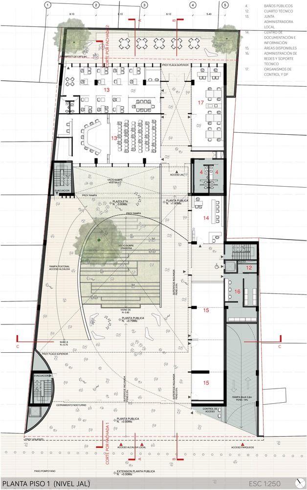 Galería de Arquitectura en Estudio + NOMENA Arquitectura, segundo lugar en el diseño de la alcaldía de Santa Fe en Colombia – 16