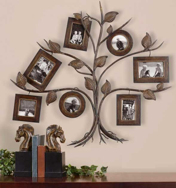 Tree Photo Collage Metal Wall Decor Photo Frames Wall Collage Decor Family Tree Collage Wall Photo Frame Collage