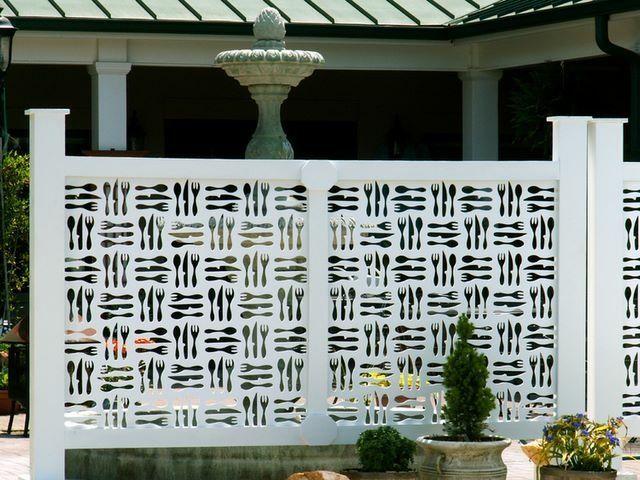 Cool Paravent Garten Teiler wei origineller Sichtschutz Ideen Is the plastic visibility fence a good
