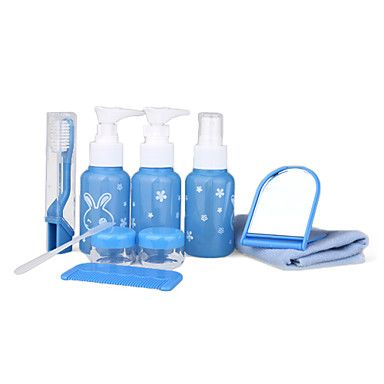 10 In 1 Portable Travel Toiletry Bag Kit With Bottles Jars