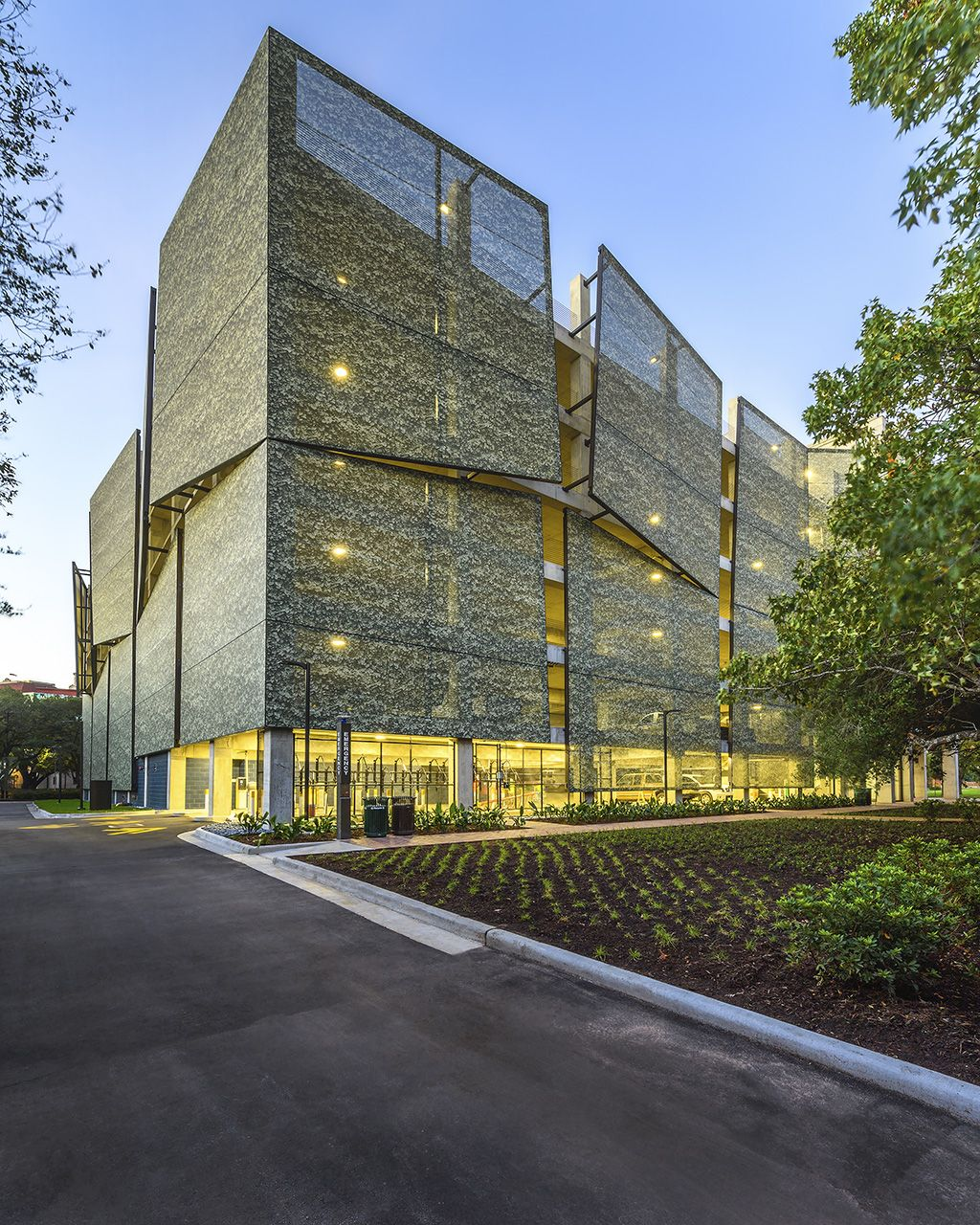 Garage Design Architecture: Rice University Parking Garage