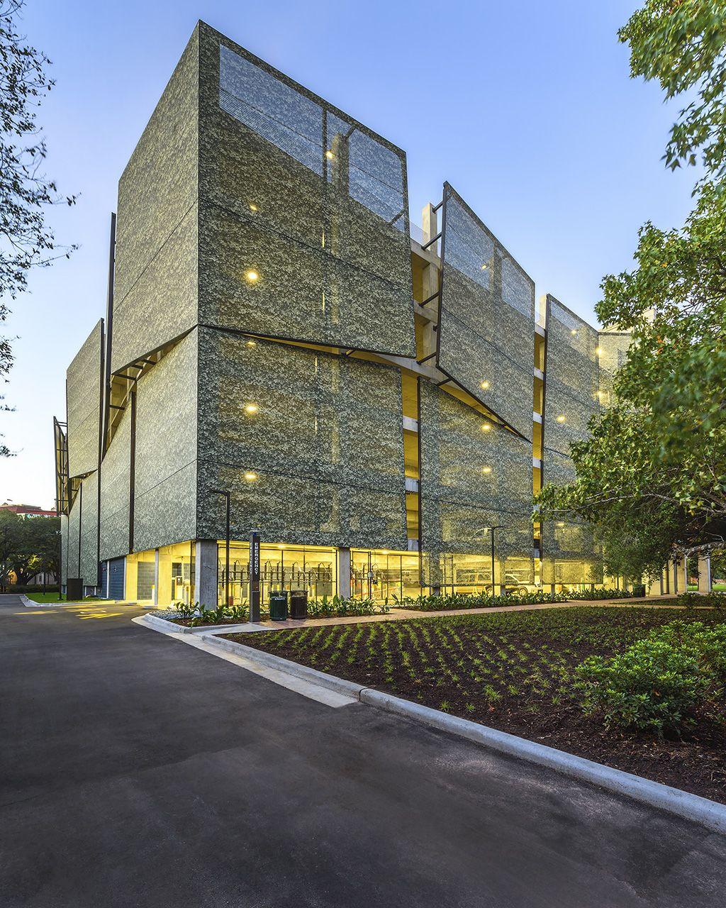 Rice University Parking Garage Facade Architecture Parking Building Architecture