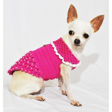 Princess Dog Dresses Pink Luxury Design With Pearls Apparel Handmade