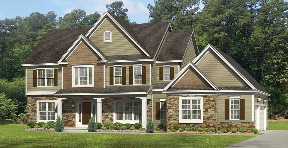 Amazing New American Home Plan With 2712 Square Feet And 4 Bedrooms From Dream Home  Source | Nice Ideas