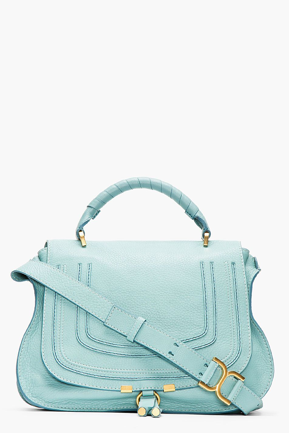 37a4fc0482 Chloe Mint Green Leather Marcie Medium Handbag for women