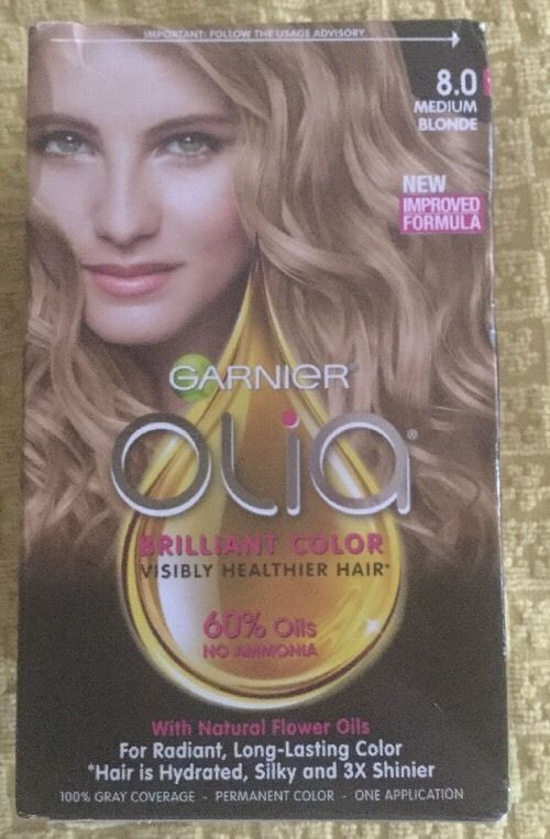 C61 Garnier Olia 8 0 Medium Blonde Permanant Hair Color Bw