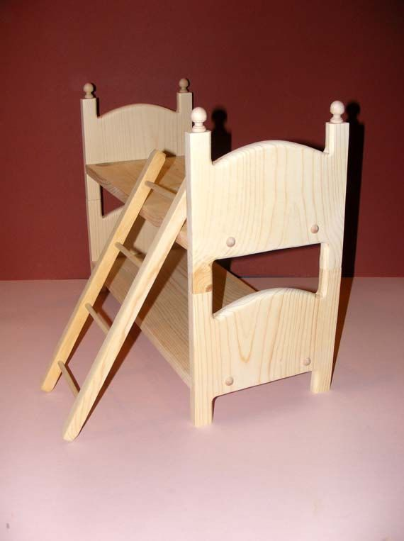 Stackable Doll Bunk Bed 2 Beds With Ladder American Girl 18 Inch Doll  Furniture   You Choose Design