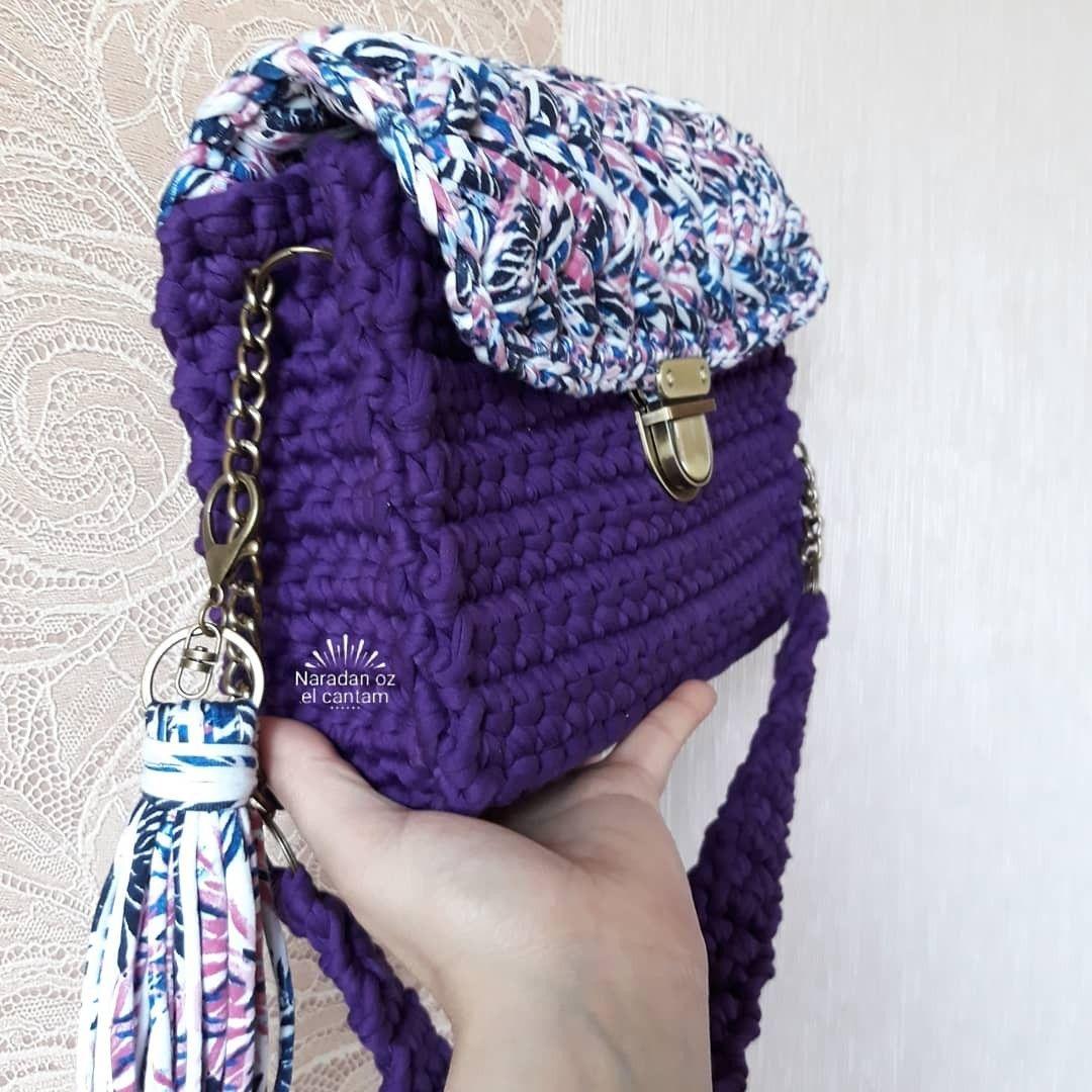 Вязание сумки в дневниках
