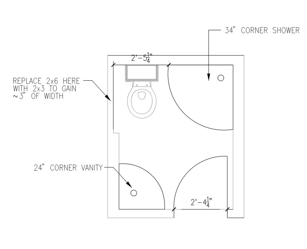 5' x 6' bathroom layout | Ideas for the House in 2018 ...