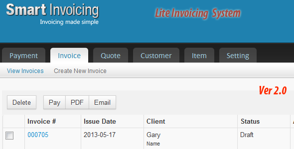 Lite Invoicing System Currency Symbol User Interface And Logos - Simple invoice php