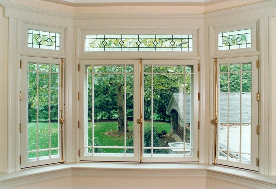 The Bay Window Was Constructed To Match Doors Including Inswing Sash And Leaded Gl Transom