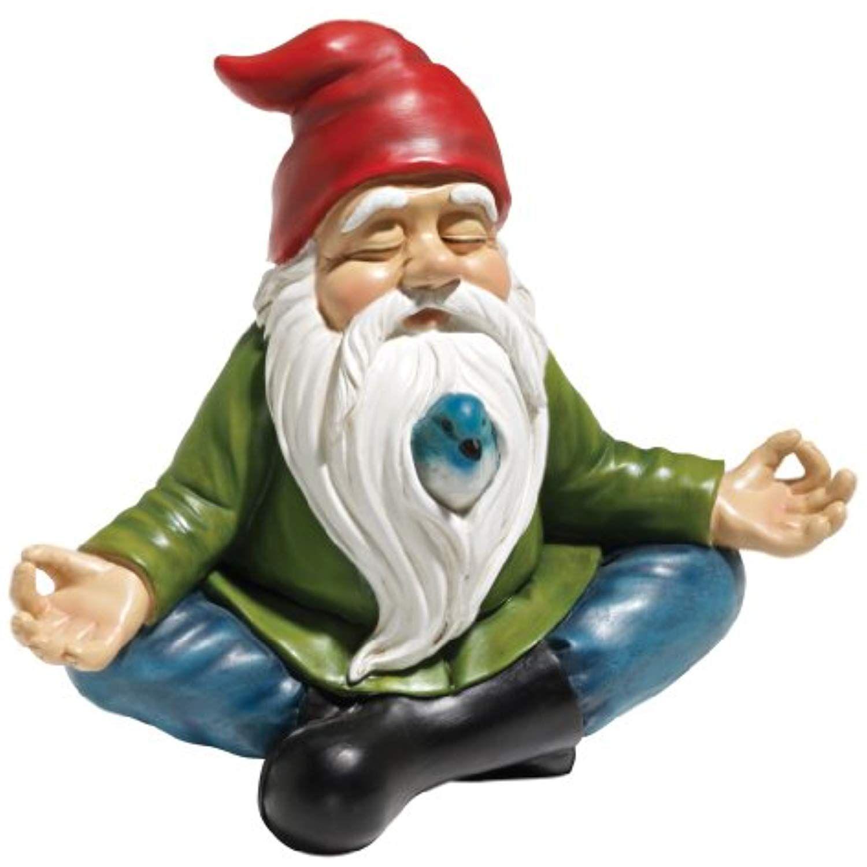 Hauptfarbdesign-bilder draußen design toscano zen garden gnome statue  inch polyresin full