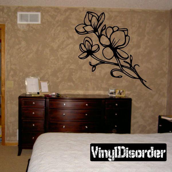 Flower Wall Decal - Vinyl Decal - Car Decal - DC 8038